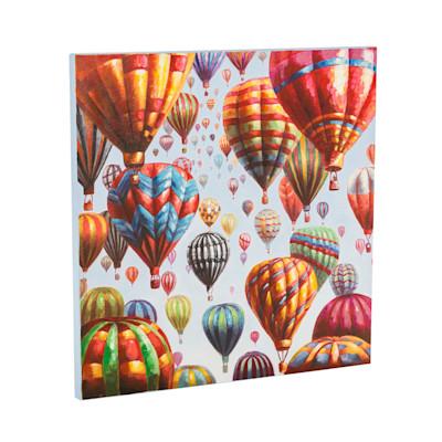 Bild Bunte Ballons, Handgemalt, Acryl auf Leinwand, ca. B80 x H80 x T3 cm