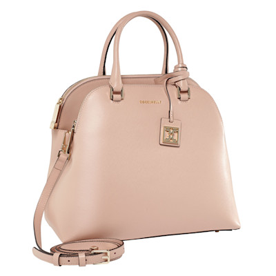 COCCINELLE Handtasche, goldfarbene Details, Business, Leder