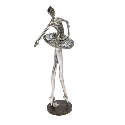 Dekofigur Ballerina, Polyresin, Höhe ca. 40 cm