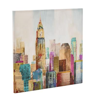 Bild City Colors, Kunstdruck, Leinwand, ca. 80 x 80 cm