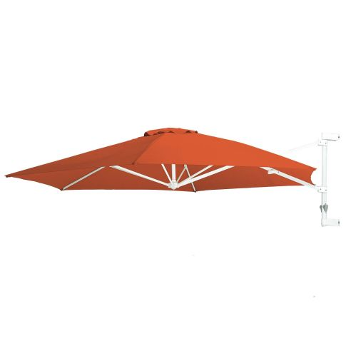 sonnenschirm wand schwenkbar 3m kurbelbar polyester sonnenschutz garten. Black Bedroom Furniture Sets. Home Design Ideas