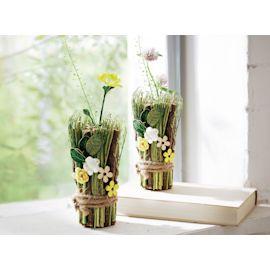 Minivase, Weidengrün, Rattan/ Gras/...