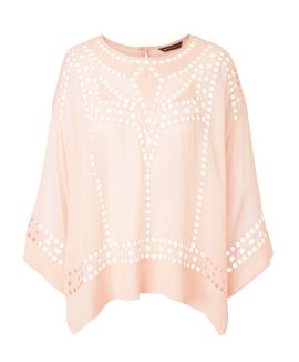 summum - Bluse, Stickerei, oversize...