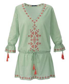 CONLEYS BLUE - Kleid, bestickt, Tun...