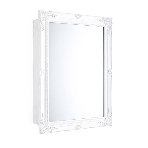 Spiegelschrank schiebet r zwei innenf cher holz - Spiegelschrank mit schiebetur ...