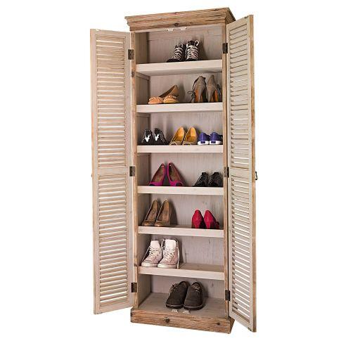 schuhschrank eder tannenholz schr nke m bel wohnen. Black Bedroom Furniture Sets. Home Design Ideas