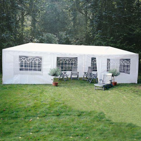 partyzelt 3 x 9m polyester pavillons garten. Black Bedroom Furniture Sets. Home Design Ideas