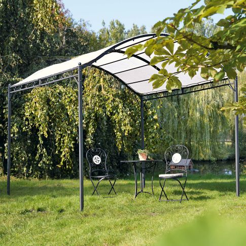 pavillon curve mit eisengestell und polyester dach. Black Bedroom Furniture Sets. Home Design Ideas