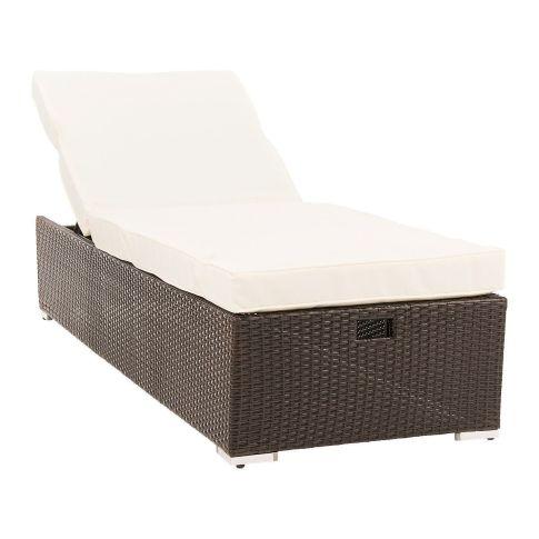 gartenliege kunstrattan inkl auflage inkl auflage. Black Bedroom Furniture Sets. Home Design Ideas
