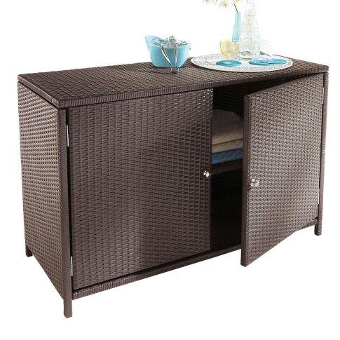 aussenschrank kunstrattan 1 einlegeboden schr nke. Black Bedroom Furniture Sets. Home Design Ideas