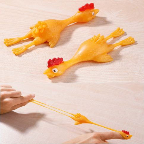 Stretchhühner, 6-tlg., Kunststoff, je ca. L12 x B4,5 x H2,5 cm. Katalogbild