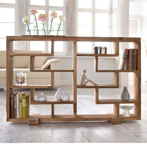 raumteiler woody naturbelassen teak holz standregale. Black Bedroom Furniture Sets. Home Design Ideas
