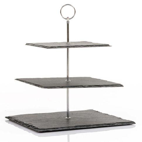 schiefer etagere 3 stufig eckig buffetzubeh r gastro. Black Bedroom Furniture Sets. Home Design Ideas