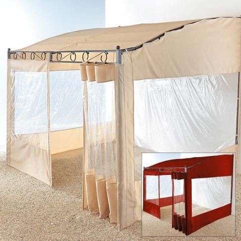 seitenw nde pavillon wave 2 tlg polyester pavillons garten. Black Bedroom Furniture Sets. Home Design Ideas