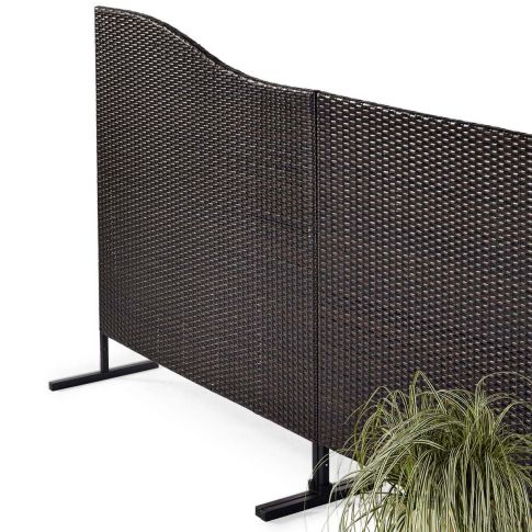 sichtschutz kunstrattan wave kunstrattan sonnenschutz garten. Black Bedroom Furniture Sets. Home Design Ideas