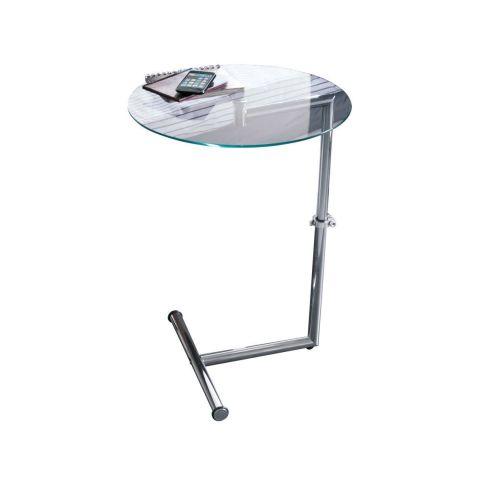 beistelltisch h henverstellbar geh rtete klarglasplatte beistelltisch tische wohnen. Black Bedroom Furniture Sets. Home Design Ideas