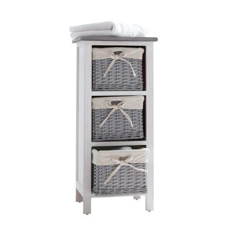 regal hedi mit 3 k rben 3 k rbe paulownia holz regale badm bel bad. Black Bedroom Furniture Sets. Home Design Ideas