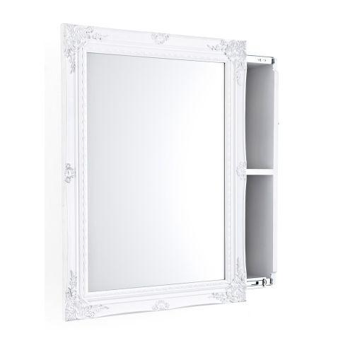 spiegelschrank schiebet r zwei innenf cher holz schr nke m bel wohnen. Black Bedroom Furniture Sets. Home Design Ideas