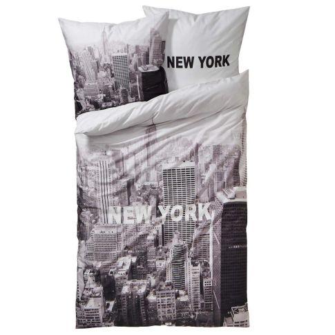bettw sche new york mit rei verschluss baumwoll renforc bettw sche wohntextilien wohnen. Black Bedroom Furniture Sets. Home Design Ideas