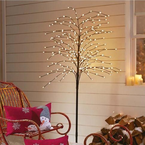 led baum weidenk tzchen beleuchtet outdoorgeeignet ca h200 cm weihnachtsbeleuchtung. Black Bedroom Furniture Sets. Home Design Ideas