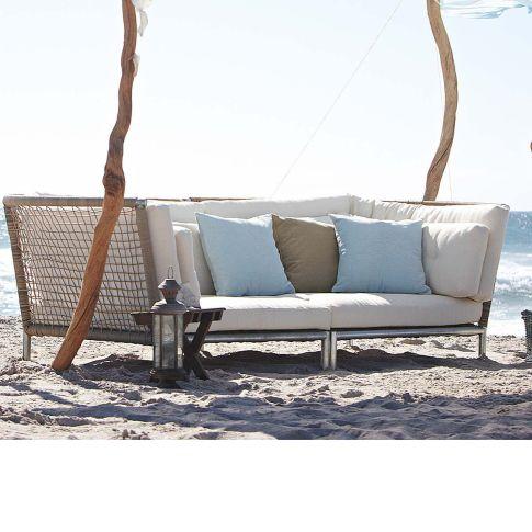 Outdoor-Sofa, inkl. Auflagen, Kunststoffgeflecht Katalogbild