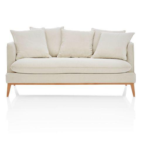 sofa 3 sitzer inkl 5 kissen 3 sitzer bezug baumwollgemisch sofas sitzm bel wohnen. Black Bedroom Furniture Sets. Home Design Ideas