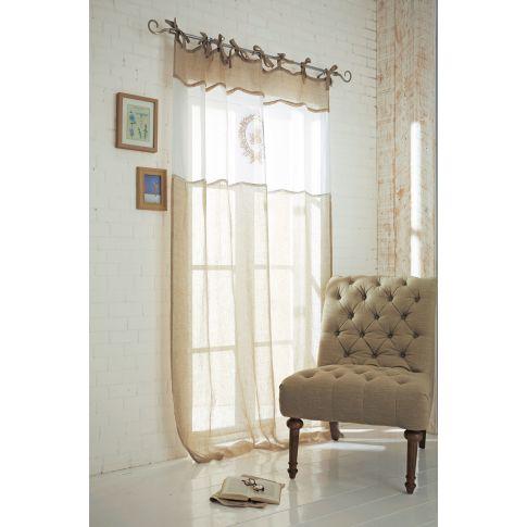 vorhang monique bestickt schleifenb nder leinen ca l250xb140 cm vorh nge wohntextilien. Black Bedroom Furniture Sets. Home Design Ideas