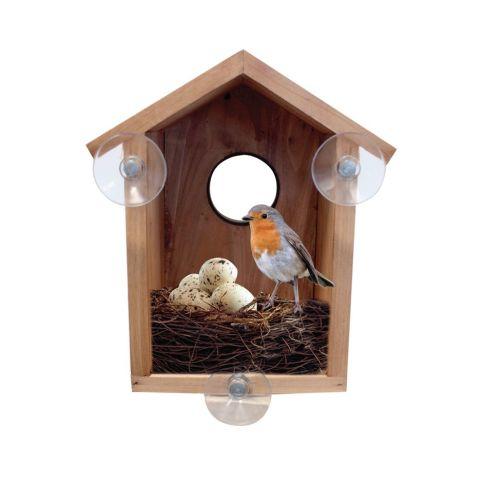 vogelhaus bird watcha beobachtung von v geln holz gartendeko garten. Black Bedroom Furniture Sets. Home Design Ideas