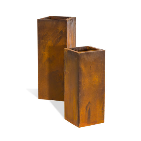 pflanzs ulen set 2 tlg corrido 2 tlg rustikal metall h he 90cm 70 cm pflanz und. Black Bedroom Furniture Sets. Home Design Ideas