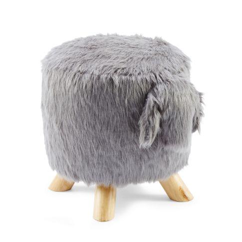 hocker sch fchen textilgewebe holz sitzm bel m bel wohnen. Black Bedroom Furniture Sets. Home Design Ideas