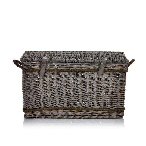 korbtruhe mit tau umwickelt weide k rbe deko wohnen. Black Bedroom Furniture Sets. Home Design Ideas