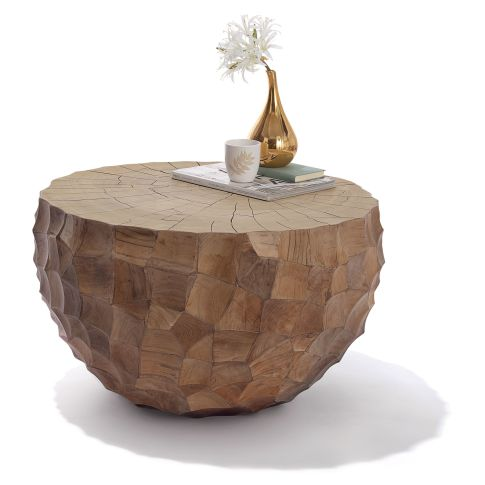 couchtisch natur look teak massiv tische m bel wohnen. Black Bedroom Furniture Sets. Home Design Ideas