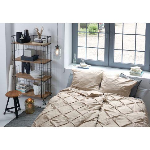 bettw sche gerafft knopfverschluss baumwolle bettw sche wohntextilien wohnen. Black Bedroom Furniture Sets. Home Design Ideas