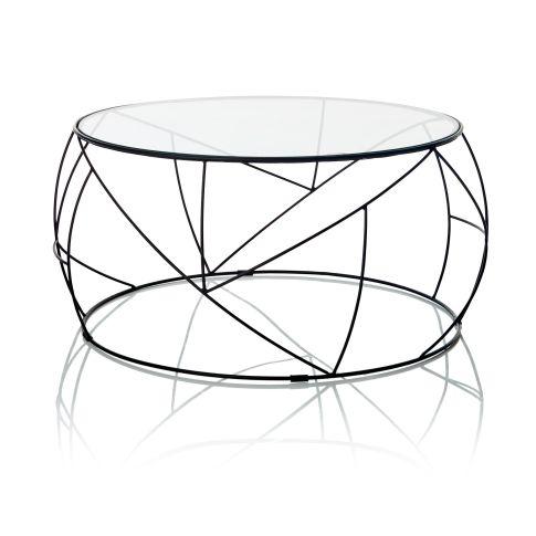 couchtisch rund geh rtetes glas metall couchtische. Black Bedroom Furniture Sets. Home Design Ideas