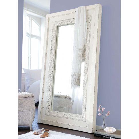 spiegel verzierter rahmen teakholz wiederaufbereitet spiegel wohnen. Black Bedroom Furniture Sets. Home Design Ideas