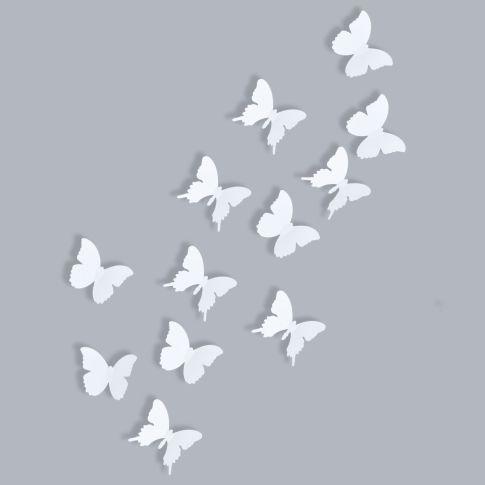 Wand Deko Set Schmetterling Uni 12 Tlg Dekoartikel