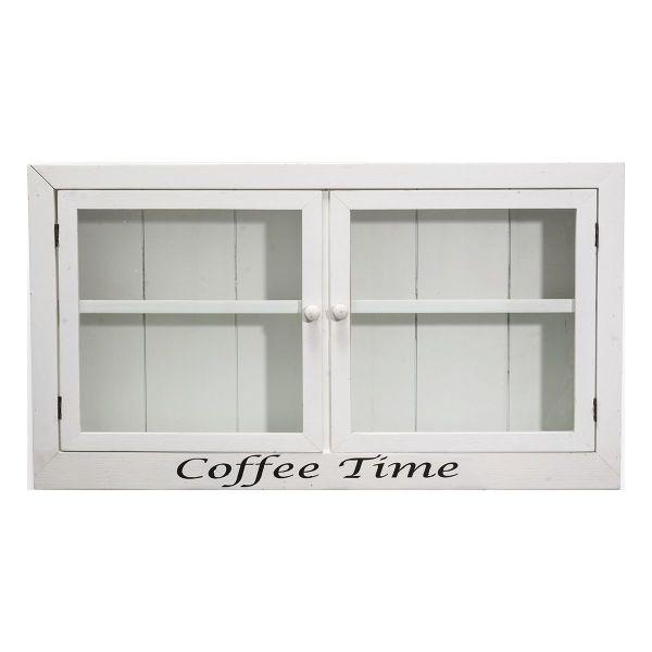 kuchenschrank cappuccino : ... K?chenschrank Glast?ren und Holz Wei? mit Coffee Time Druck eBay
