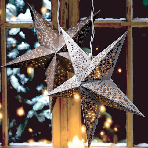 beleuchteter stern ornament braun. Black Bedroom Furniture Sets. Home Design Ideas