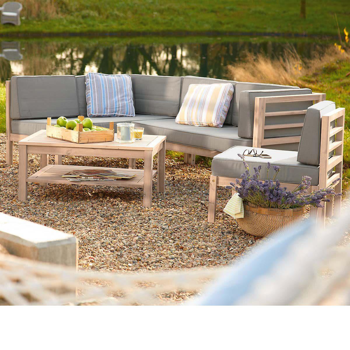 Gartenmöbel Set Holz Mit Auflagen | ambiznes.com