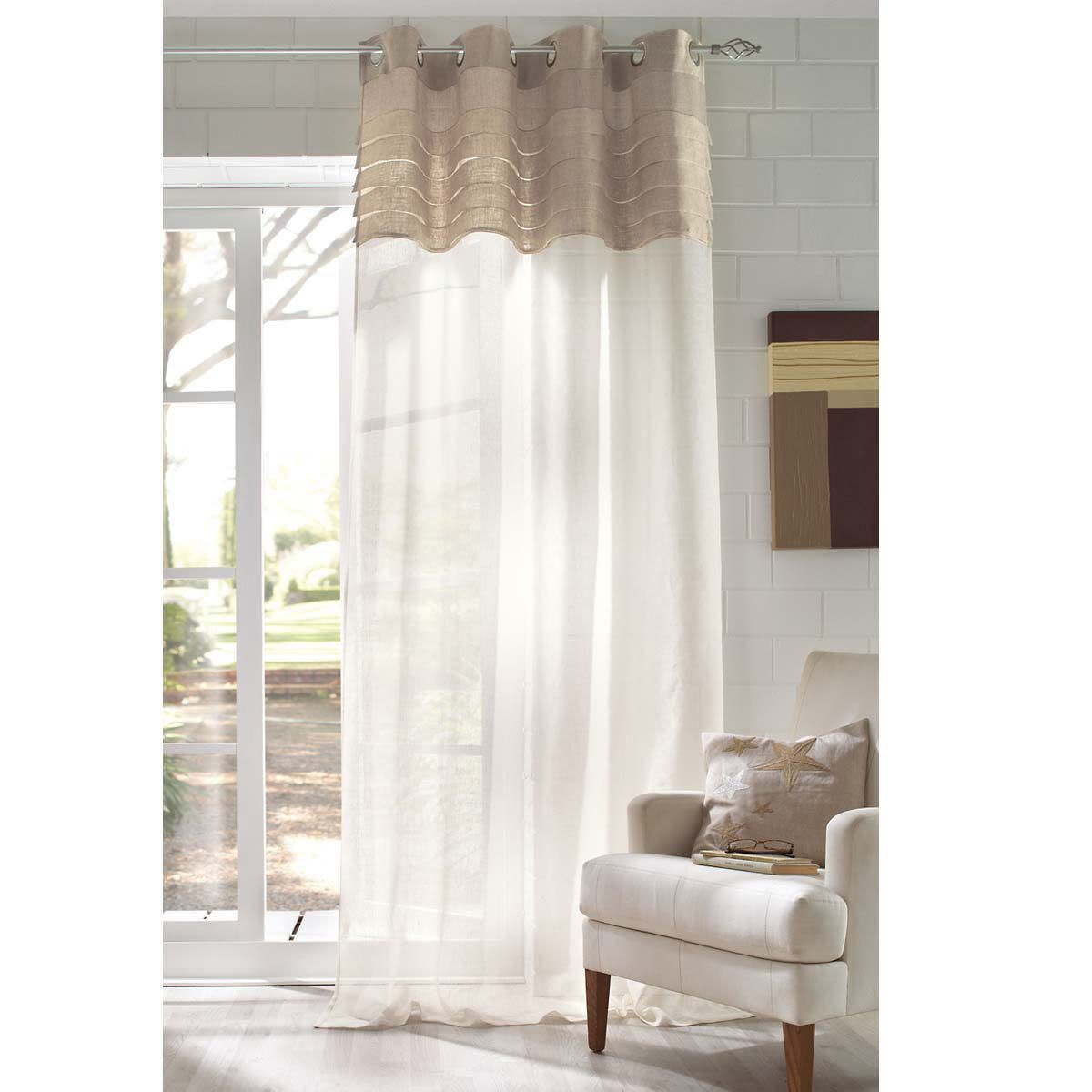 Vorhang Mix, Ösenaufhängung, Leinen ca. L250xB140 cm