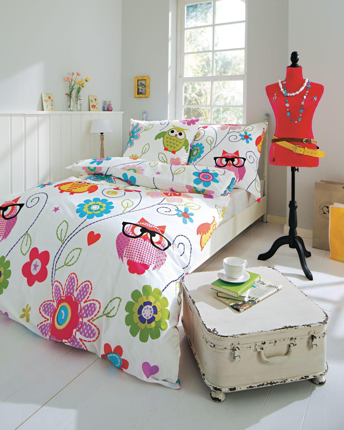 eulen bettw sche 155 220 m belideen. Black Bedroom Furniture Sets. Home Design Ideas
