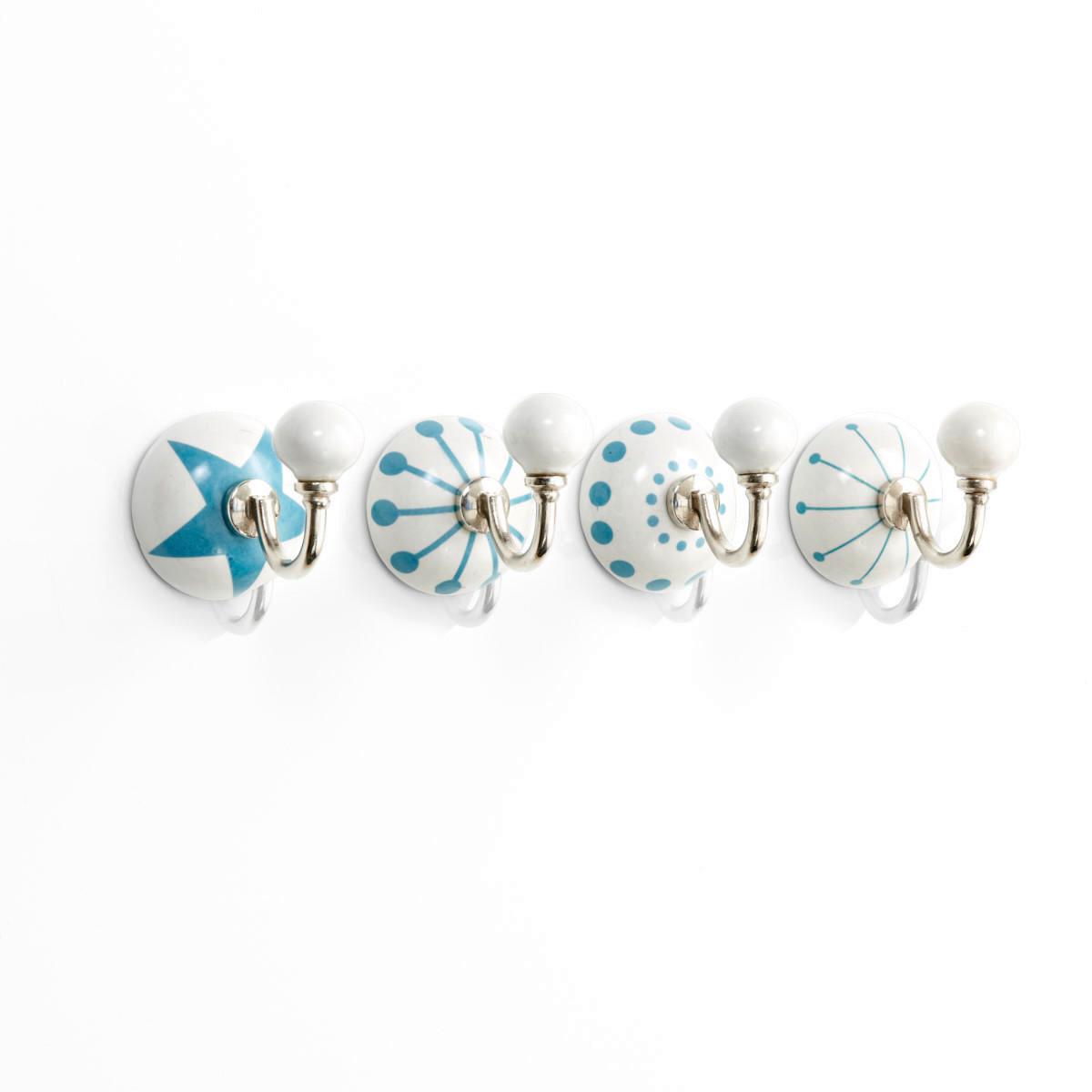 Haken-Set, 4-tlg., Musterung, Keramik, Metall (Impressionen)