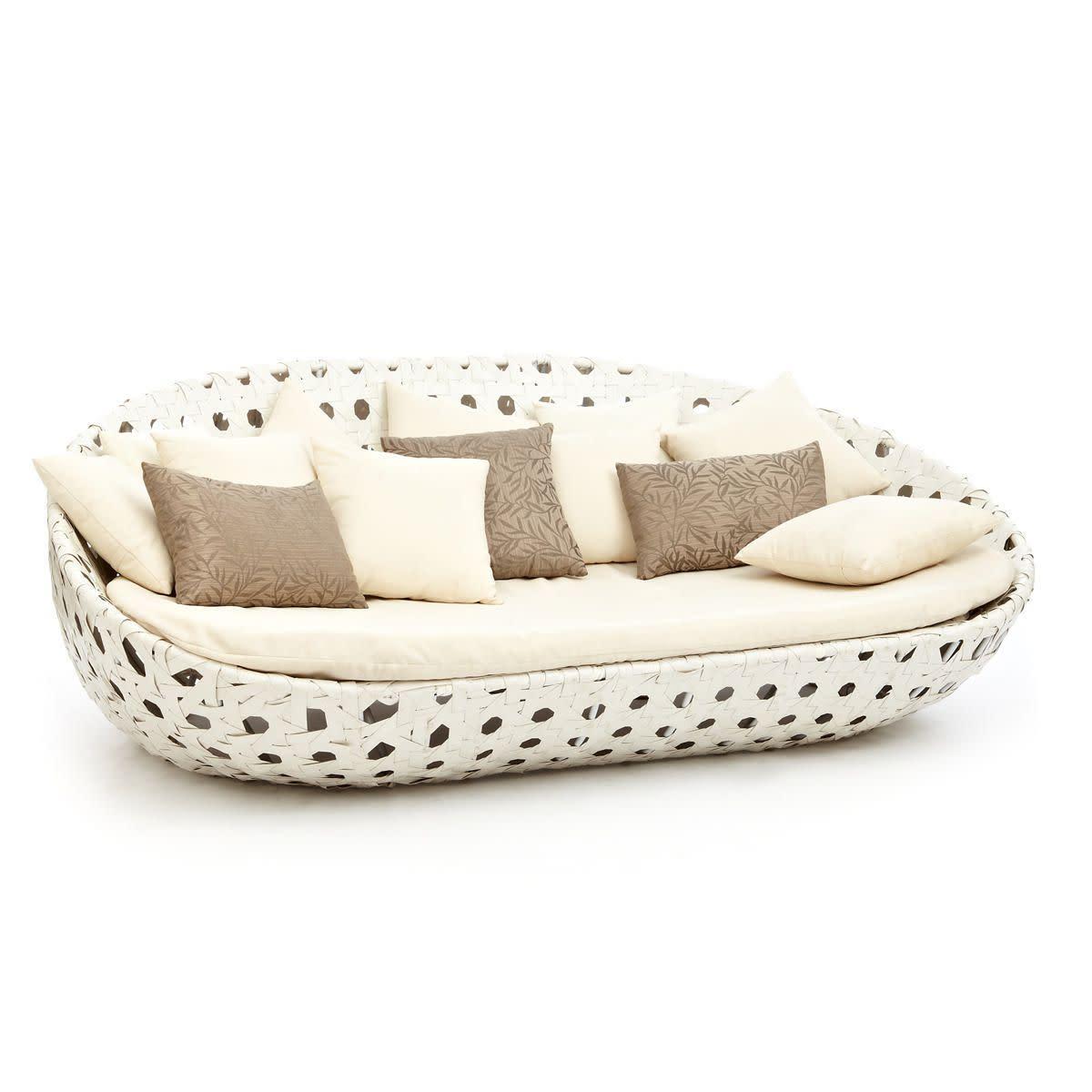 Outdoor-Sofa, inkl.Kissen, Aluminiumgestell, Kunststoffgeflecht, Polyester (Impressionen)