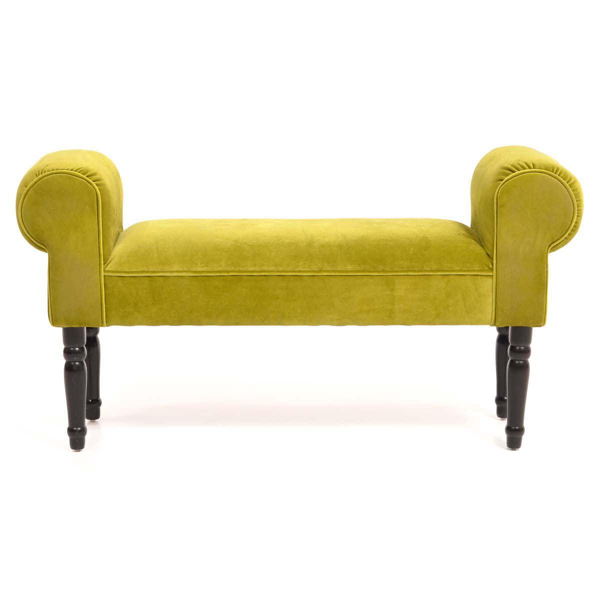 Sitzbank, gepolstert, Pappelholz, 98x52x31 cm (Impressionen)