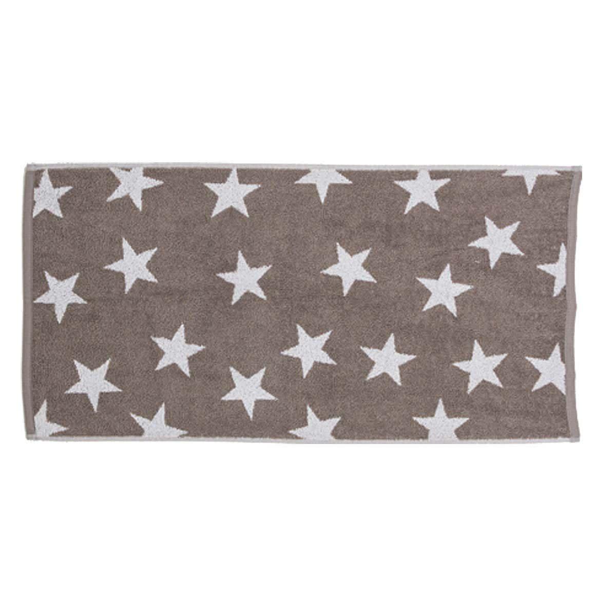 Handtuch Sterne im Alloverdruck, Baumwolle 50x100 cm