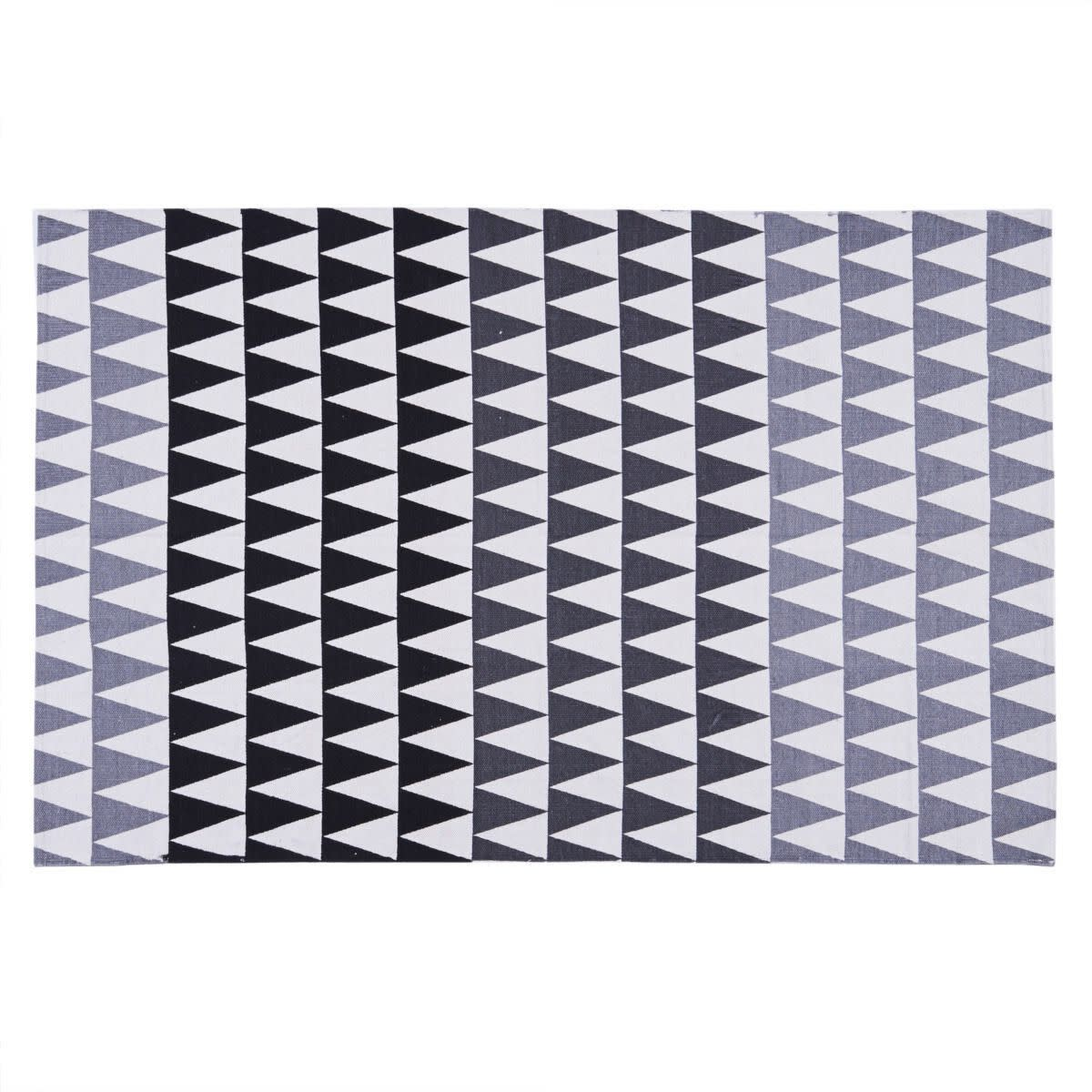 Teppich, Dreiecksmuster, Baumwolle (Impressionen)