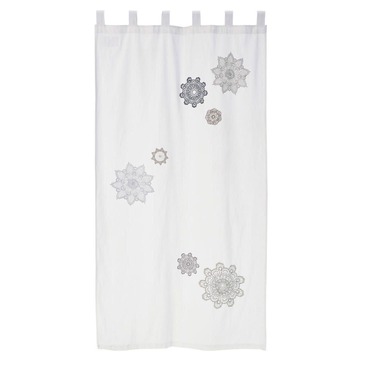 Vorhang, Blumenornamente, Baumwolle (Impressionen)