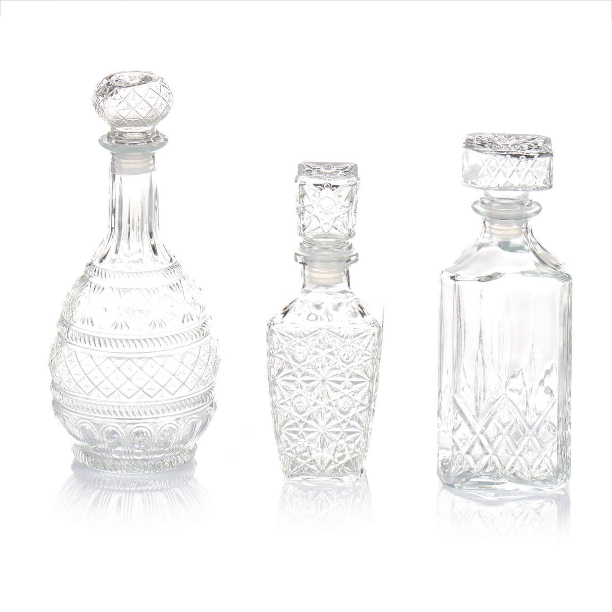Karaffen-Set, 3-tlg., edles Kristallglasdesign, Glas (Impressionen)