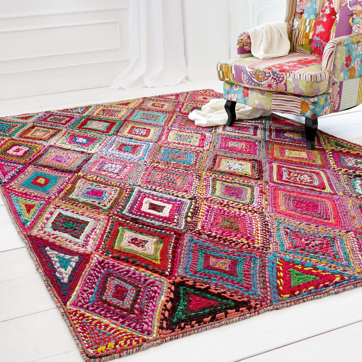 Teppich rund 180 cm  Teppiche Günstig Kaufen: Teppich gabbeh adali 1857 rot günstig ...