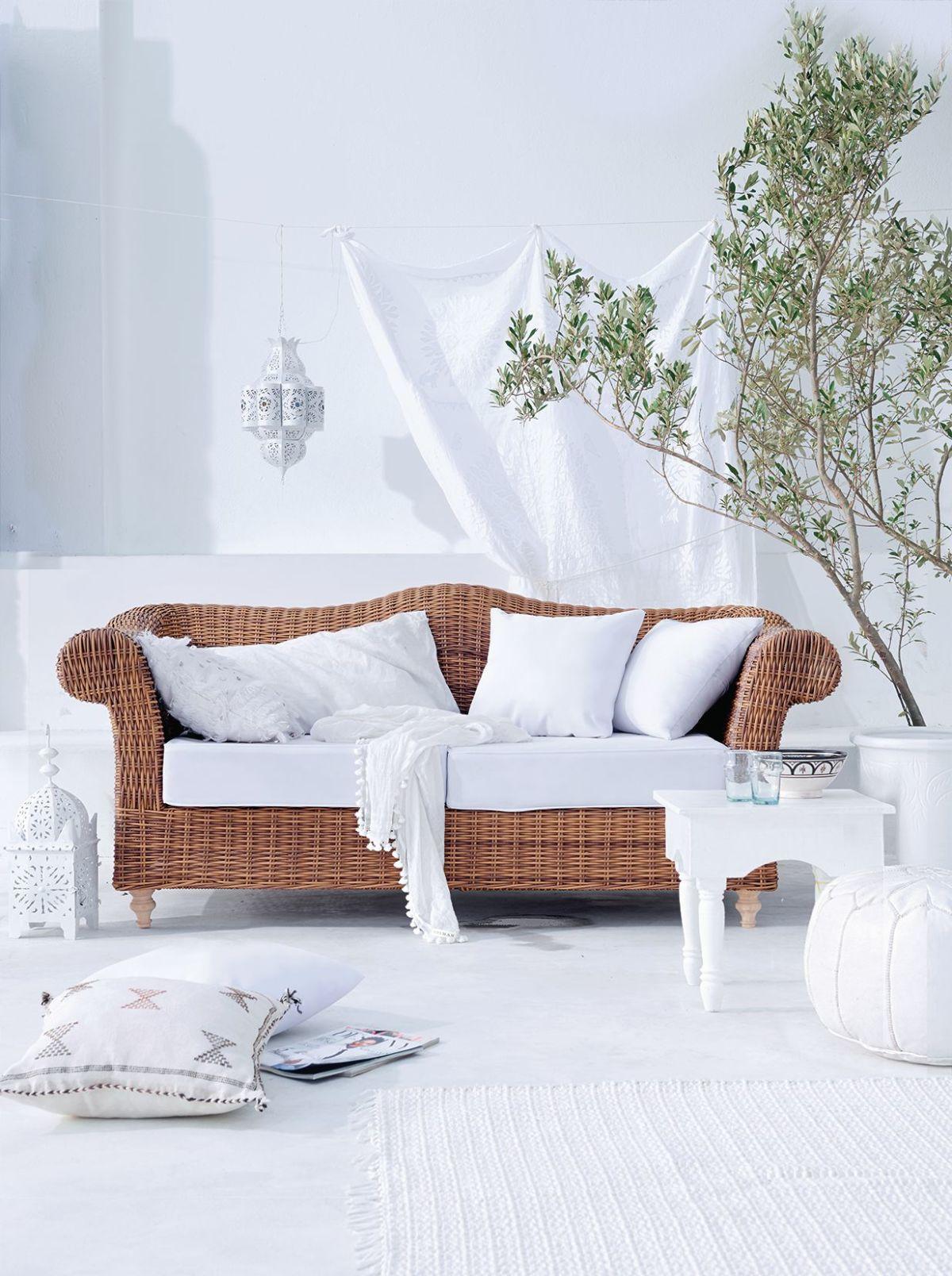 Outdoor-Sofa, Barock Look, Kunststoffrattan, Aluminium (Impressionen)